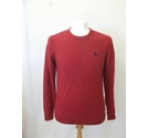 Simon Carter Lambswool bend jumper sweater Cherry Red Size: M