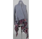 Super Dry patterned cardigan grey and pink Size: M