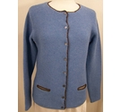 Donna Lane Lambswool blend cardigan Light blue Size: XL