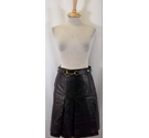 Gucci Leather Skirt Dark Brown Size: 28