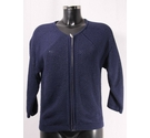 M&S Collection BNWOT Zip-Fronted Cardigan Navy Size: 10