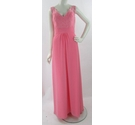 Romantica Collections-Size 14-Coral Pink-Full Length A-Line Bridesmaid or Prom Dress