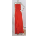 Mari Lee by Madeline Gardner-Size 16-Orange-Strapless Full Length A Line Bridesmaid or Prom Dress