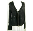 Noli Velvet detailed cardigan Black Size: XL