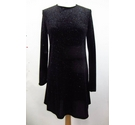 Zara Velvet Dress Black Sparkly Size: S