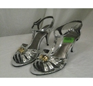 CARVELA dressy party jewelled sandals silver Size: 6