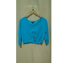 Jaeger Short Sleeve Cropped Cardigan Sky Blue Size: M