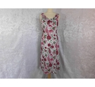 Sequin Scoop Neck Dress Dress Pink & White Size: 12