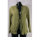 Moda at George Ruffle-Fronted Tie Cardigan Green Size: 14