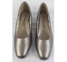 Comfort Plus Wide Fit Court Shoe Pewter Size: 6