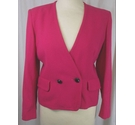 Jaeger Double breasted box jacket Fushia Pink Size: 8