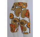 Handmade Floral Shorts Orange & Brown Size: S