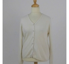 Woolovers Cardigan Cream Size: M