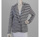 The White Company Knitted Blazer Grey & Navy Size: M