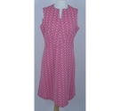 Unbranded Geometric Patterned Dress Pink Size: M