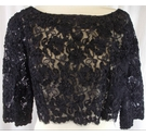 Unbranded Handmade lace cover up Black Size: M