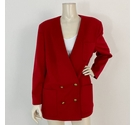 Jaeger Double Breasted Wool Jacket Red Size: 14