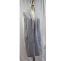 River Island Sleeveless jacket Grey Size: XS