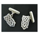Liberty Pewter Celtic Style Cufflinks Light Grey Size: Standard