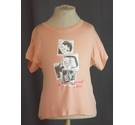 DKNY designer t shirt salmon pink Size: 4 - 5 Years