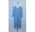 Mamalicious Lace Maternity Dress Blue Size: M