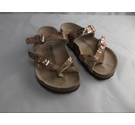 BIRKENSTOCK SLIP ON SANDALS GILT Size: 2