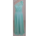 Wtoo Maxi Length One Shoulder Dress Mint Green Size: 8