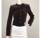 Jaeger Velour Cropped Jacket Brown Size: 8