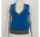 Brora Cashmere Knitted Vest Top Blue Size: 10