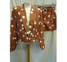 River Island Jacket/Shorts Two Piece, Brown Spot Size: S