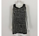 Timeless Sequin Dress Black Silver Size: S