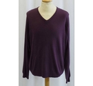 M&S Collection NEW V-neck Jumper Purple Size: L
