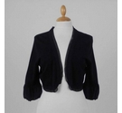 Coast Shrug Trimmed with Chiffon Black Size: S