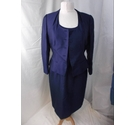 L. K. BENNETT SILK MIX DRESS AND JACKET B LUE Size: 10