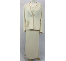Gold by Michael H three piece occasion suit Ivory beige Size: 14