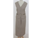 i Tailor tailored waistcoat & skirt beige Size: XXL