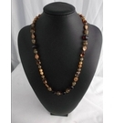 Vintage Original 1960s Glass and Ceramic Bead Necklace.