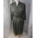Weatherall 1960's 3/4 Sleeve Wrap Dress Olive Green Size: 12