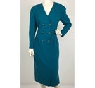 Fink Model Double Breasted Shirt dress Teal Size: 14