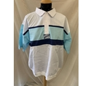 Rossini Bowling Shirt White and Blue Size: XL