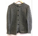 Inis Crafts- Merino Wool, Ladies Cardigan- Grey- Size: L