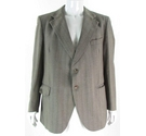 "Vintage 1990s Dunn & Co 42"" 100% Wool Suit Jacket Brown/Mixed Size: L"