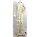 Unbranded Lace Crochet Style Bridal Coat Cream Size: M