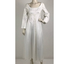 Unbranded Empire Waist Wedding Dress White Size: L