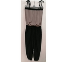 H & M Strapy jumpsuit Black and Beige Size: 10