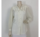 Jacques Vert Sheer Embellished Blouse White Size: 12