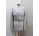 Nasty Gal Collection Cardigan Grey Size: S