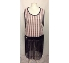 Smiffys Flapper Dress Costume Pink/Black Size: L