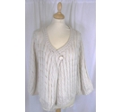 Todays Woman Cardigan Cream Size: 22