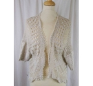 Butterfly Crochet Bolero Cream Size: 24